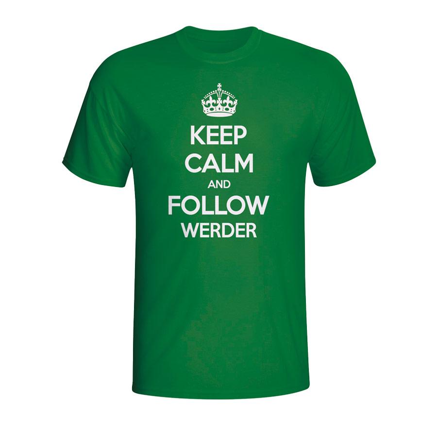 Keep Calm And Follow Werder Bremen T-shirt (green)