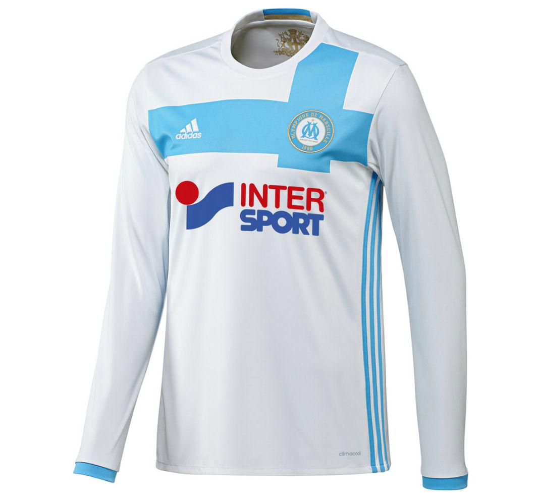 2016-2017 Marseille Adidas Home Long Sleeve Shirt
