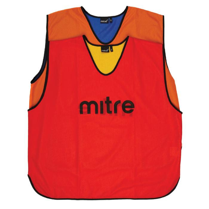 Mitre Pro Reversible Training Bib (orange-royal)