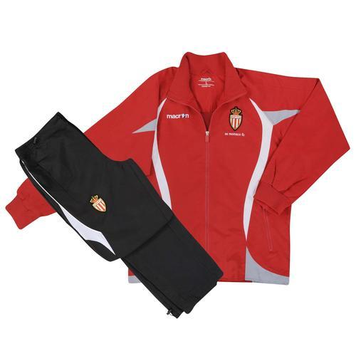 2012-13 Monaco Macron Tracksuit (Red)