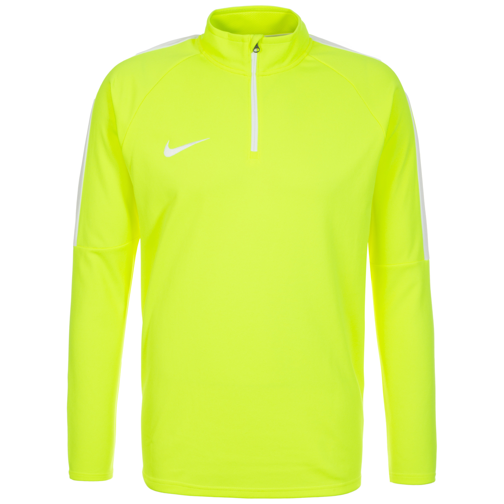 nike mens dry academy half zip drill top volt 839344 702 uksoccershop. Black Bedroom Furniture Sets. Home Design Ideas