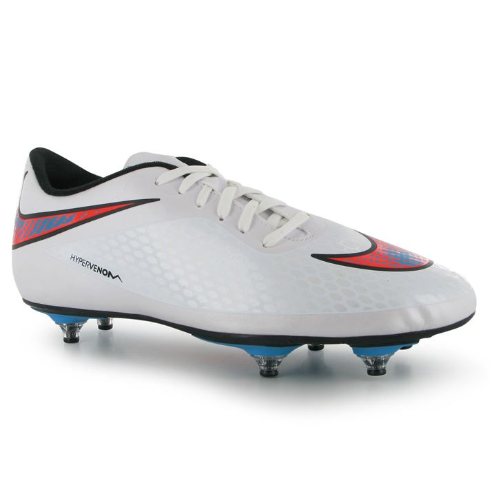 Nike Hypervenom Phade SG Mens Football Boots (White-Blue)