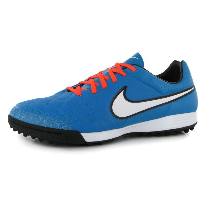 Nike Tiempo Legacy Mens Astro Turf Trainers (Turquoise-White)