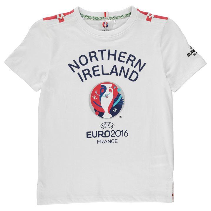 Northern Ireland UEFA Euro 2016 Graphic T-Shirt (White) - Kids