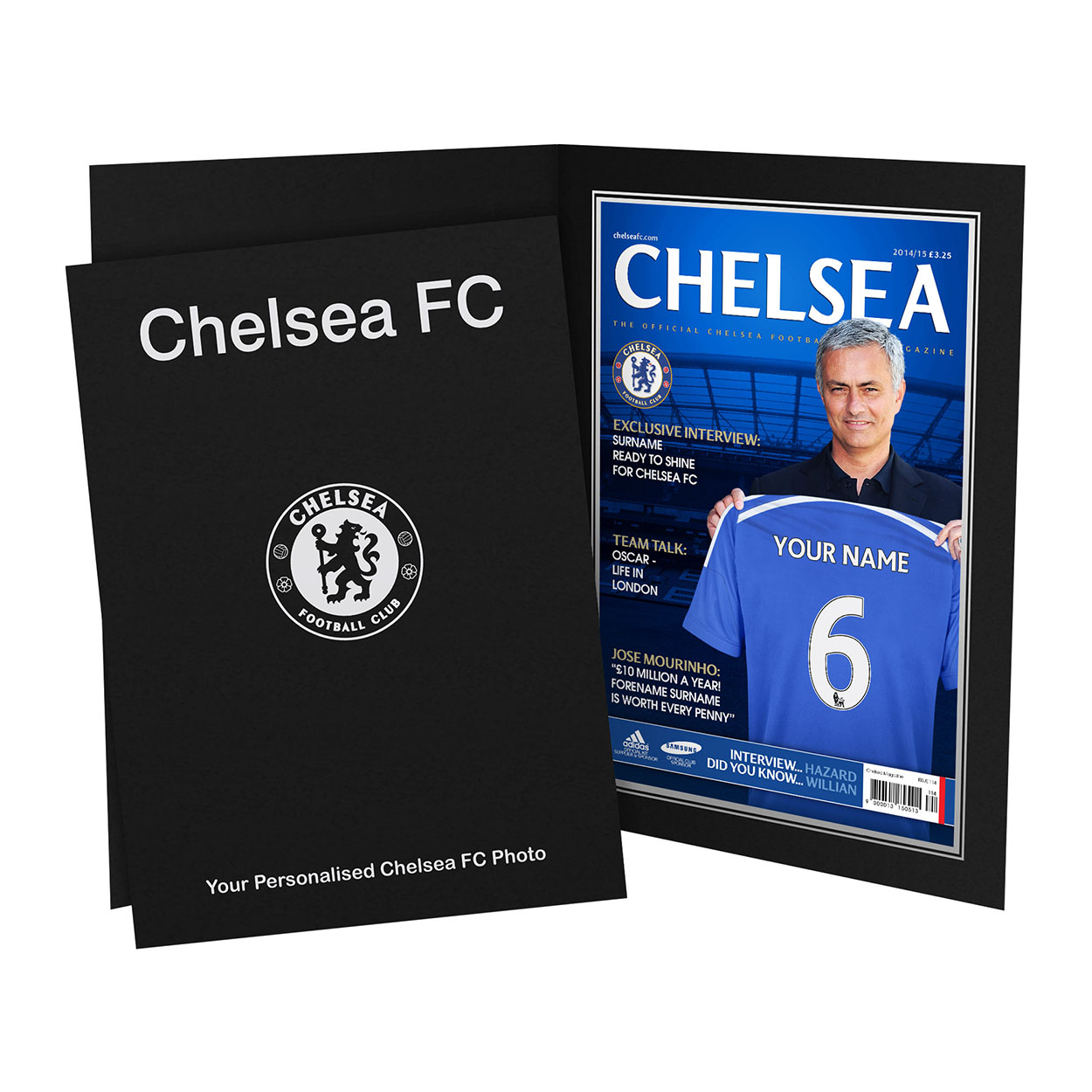Personalised Chelsea Magazine Cover