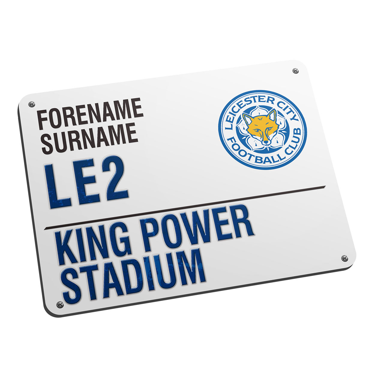 Personalised Leicester City FC Street Sign Mouse Mat