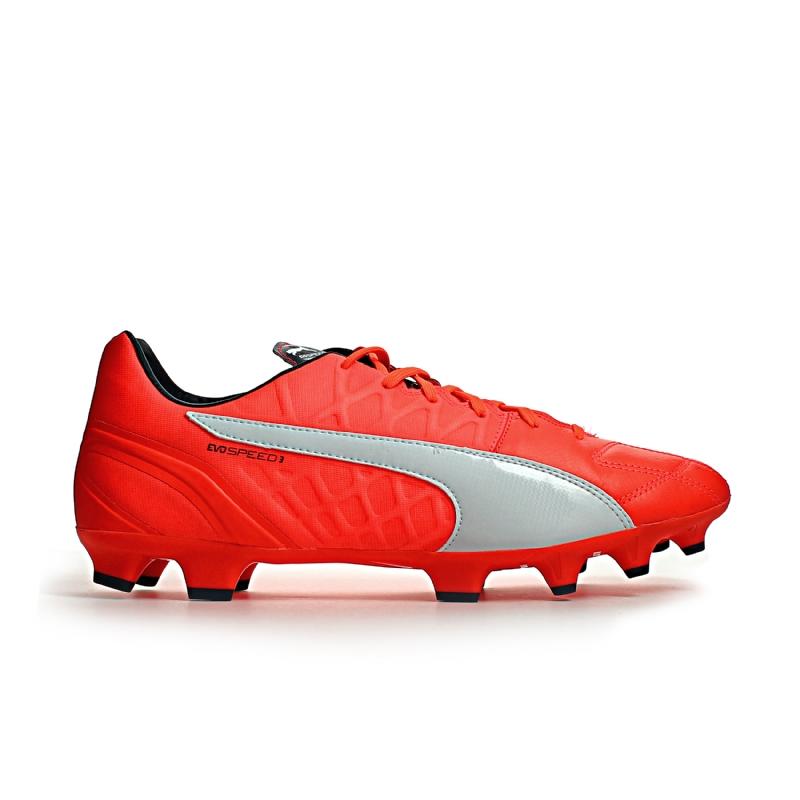 Puma evoSPEED 3.4 Leather Firm Ground Football Boots (Lava Blast)
