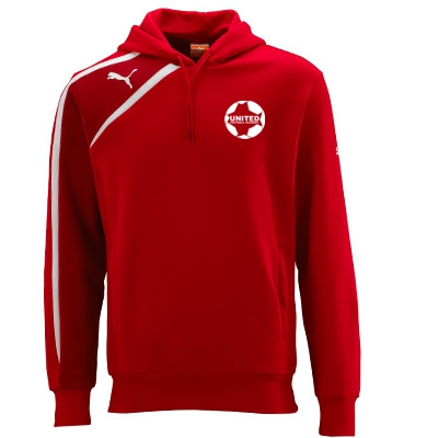 United Football Academy Spirit Hooded Top (Red) - Kids