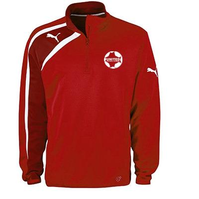 United Football Academy Spirit Half Zip Top (Red) - Kids