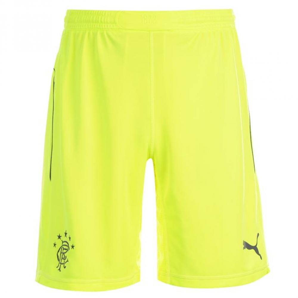 2014-2015 Rangers Home Goalkeeper Shorts (Yellow)