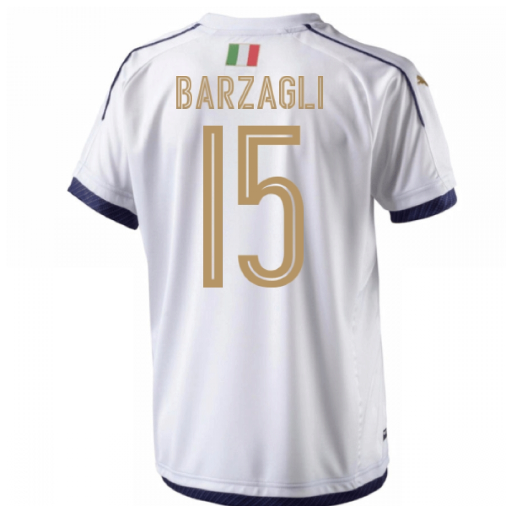 2006 Italy Tribute Away Shirt (Barzagli 15)