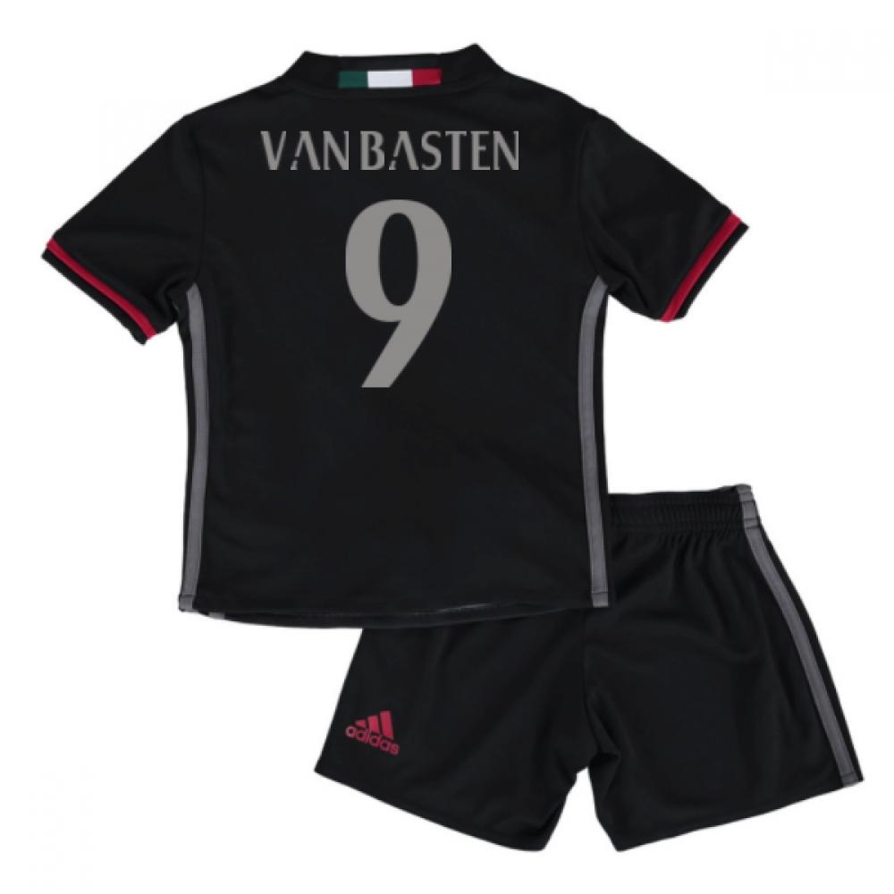 2016-17 Ac Milan Home Mini Kit (Van Basten 9)