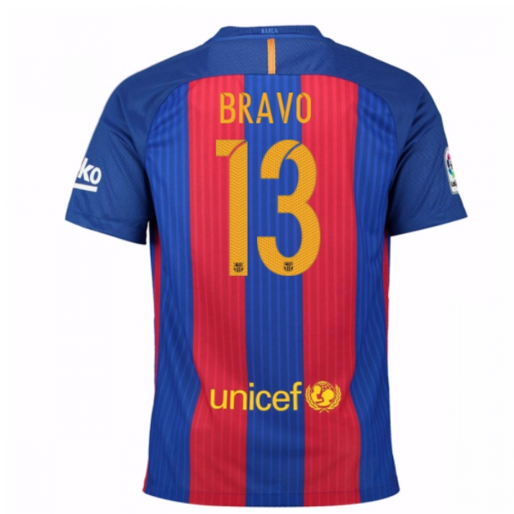 2016-17 Barcelona Sponsored Home Shirt (Bravo 13)