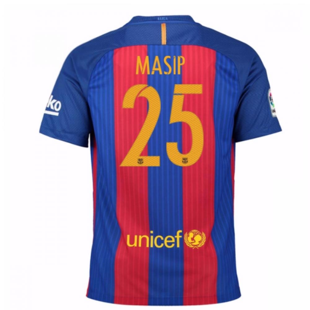 2016-17 Barcelona Sponsored Home Shirt (Masip 25)