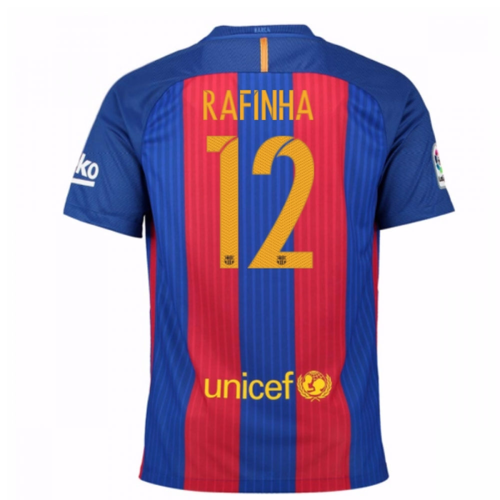 2016-17 Barcelona Sponsored Home Shirt (Rafinha 12) - Kids
