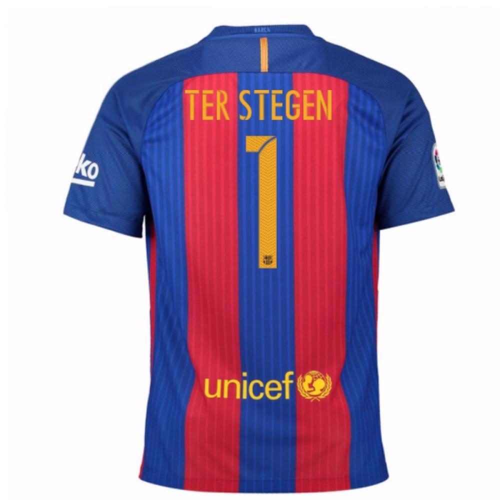 2016-17 Barcelona Sponsored Home Shirt (Ter Stegen 1) - Kids