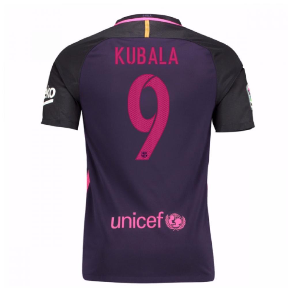 2016-17 Barcelona With Sponsor Away Shirt - (Kids) (Kubala 9)