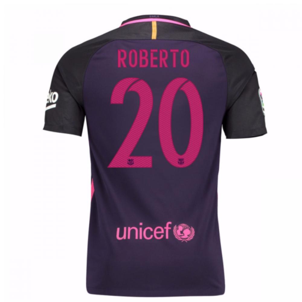 2016-17 Barcelona With Sponsor Away Shirt - (Kids) (Roberto 20)