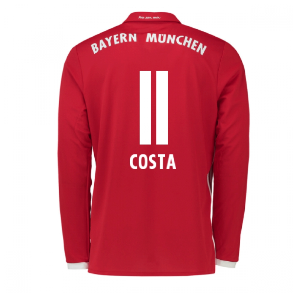 2016-17 Bayern Munich Long Sleeve Home Shirt (Costa 11)
