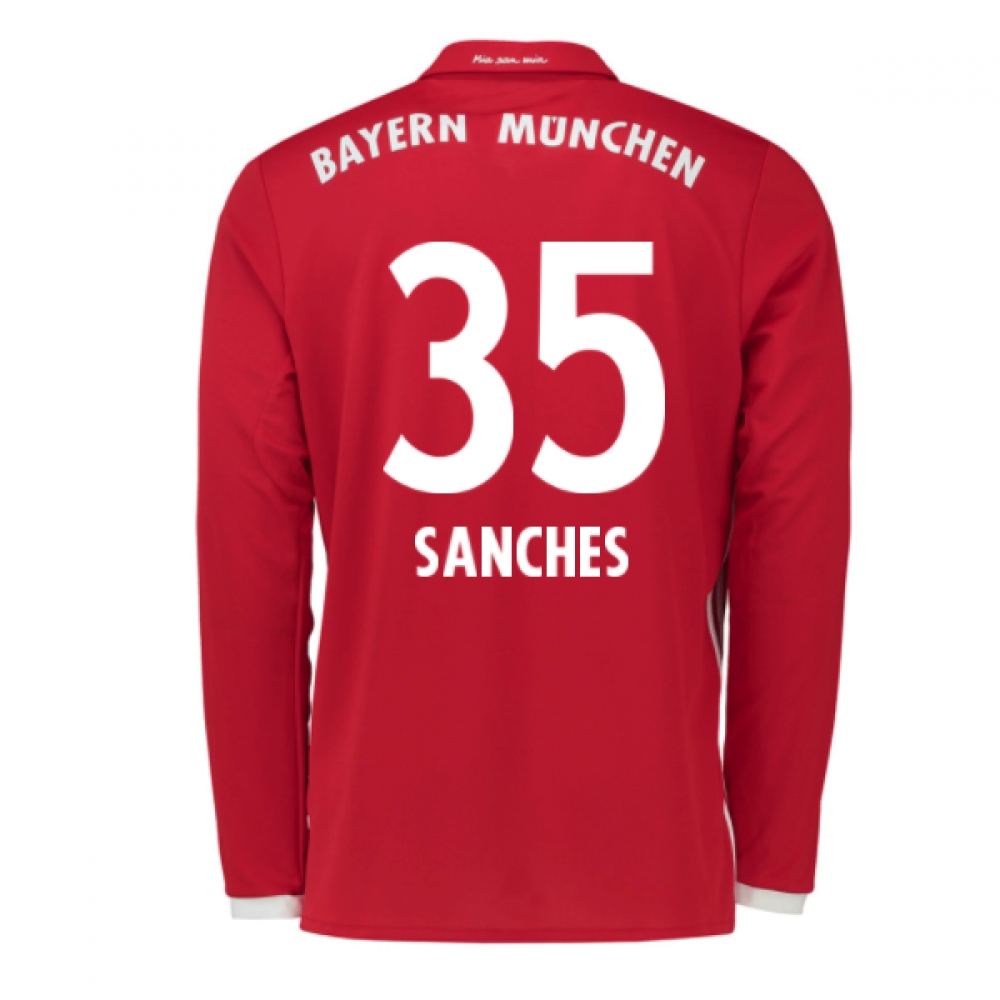 2016-17 Bayern Munich Long Sleeve Home Shirt (Sanches 35)