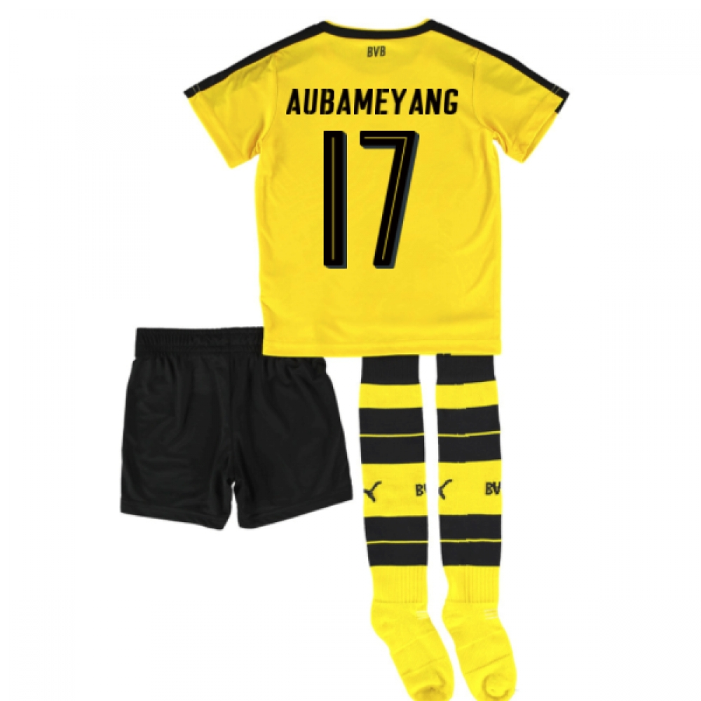 2016-17 Borrussia Dortmund Home Mini Kit (Aubameyang 17)