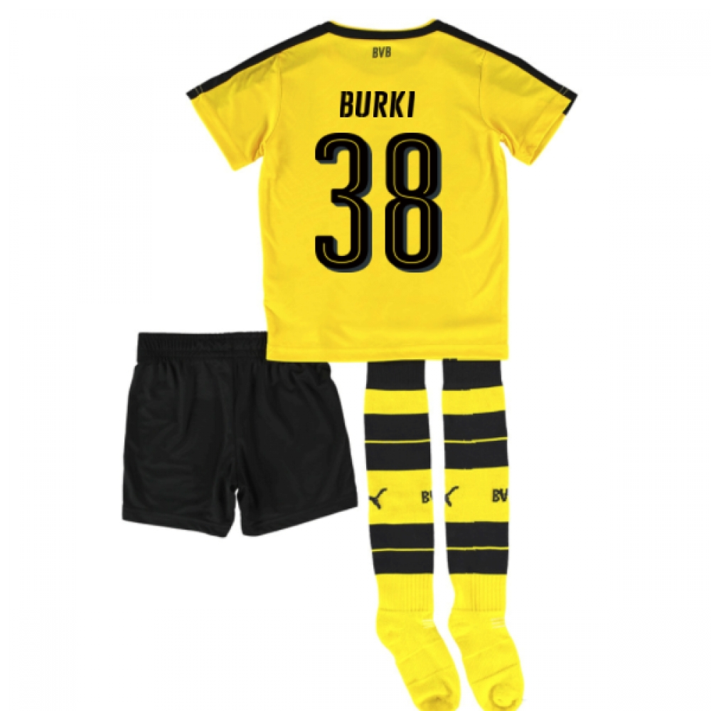 2016-17 Borrussia Dortmund Home Mini Kit (Burki 38)