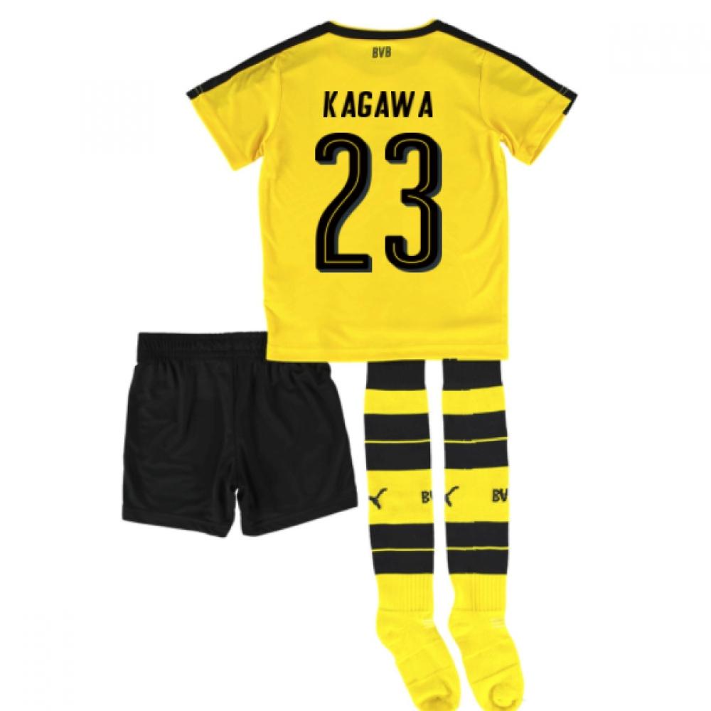 2016-17 Borrussia Dortmund Home Mini Kit (Kagawa 23)