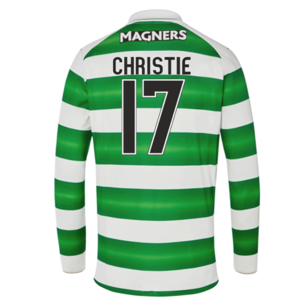 2016-17 Celtic Long Sleeve Home Shirt (Christie 17)