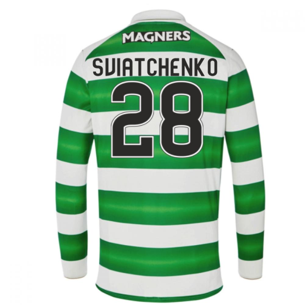 2016-17 Celtic Long Sleeve Home Shirt (Sviatchenko 28)