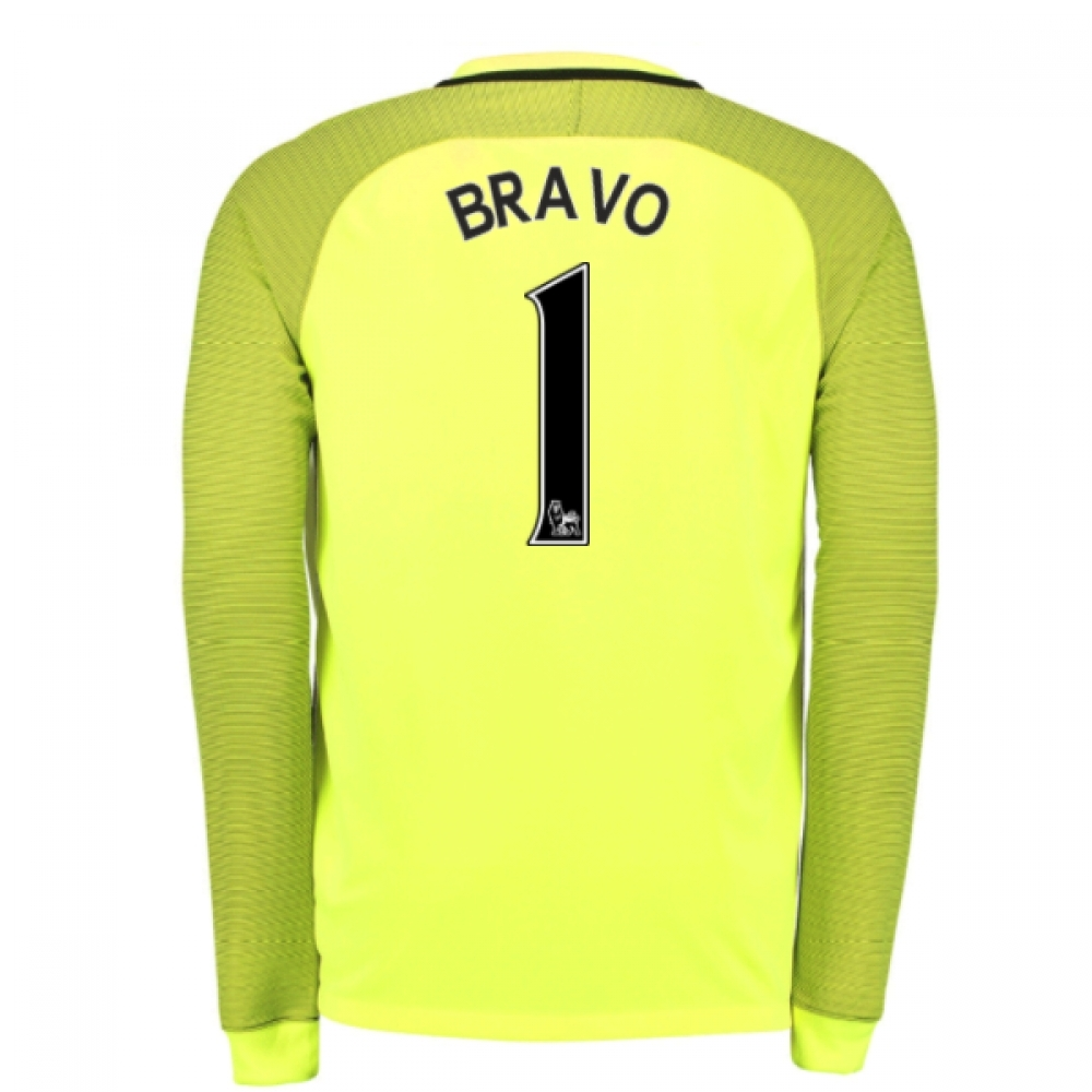 2016-17 Man City Home Goalkeeper Shirt (Bravo 1)