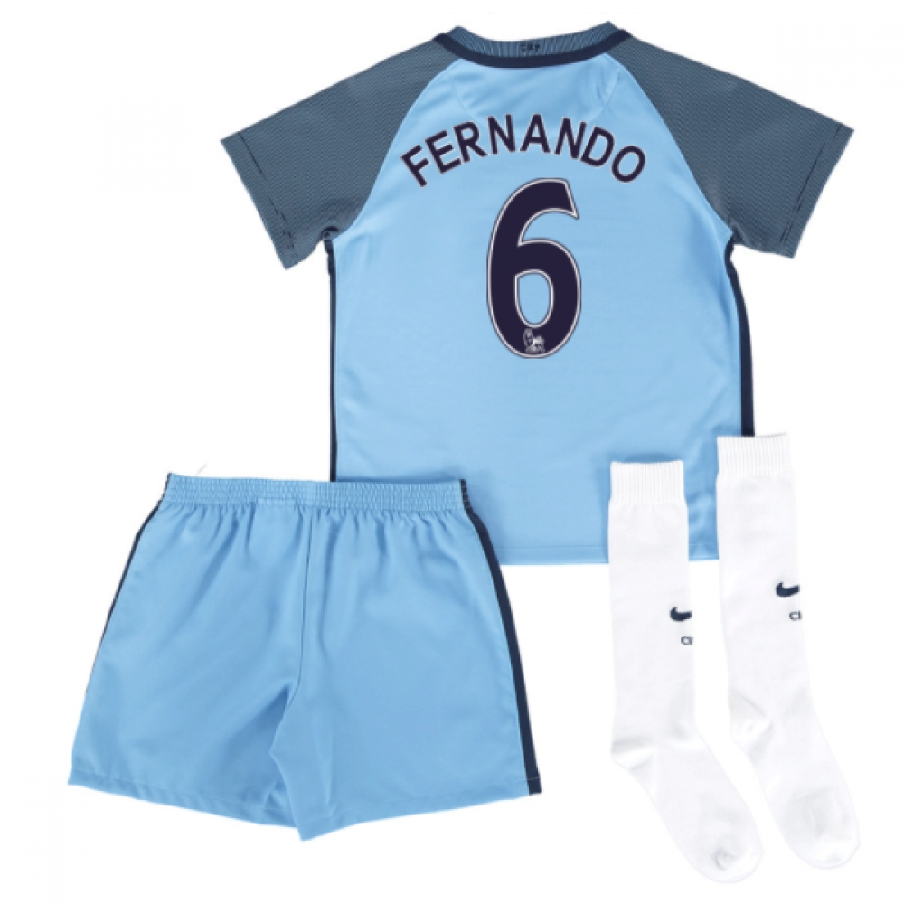 2016-17 Man City Home Mini Kit (Fernando 6)