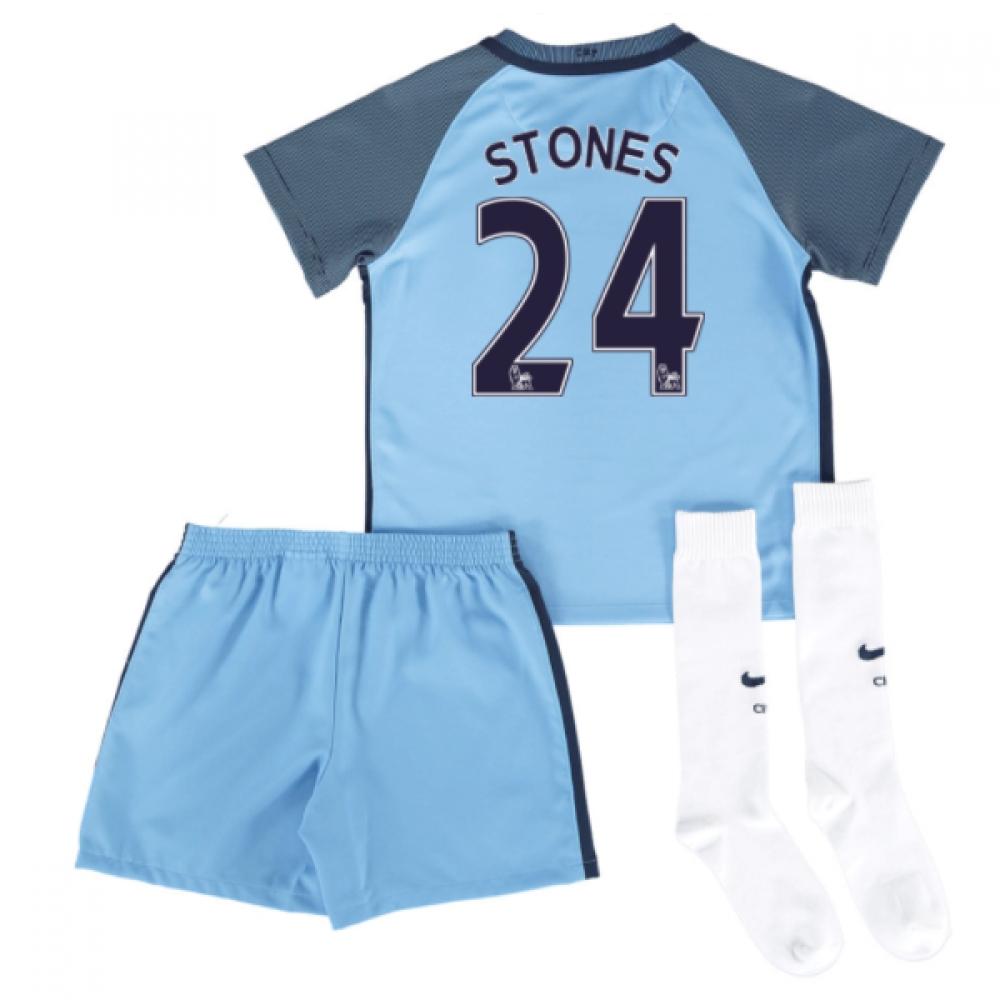 2016-17 Man City Home Mini Kit (Stones 24)