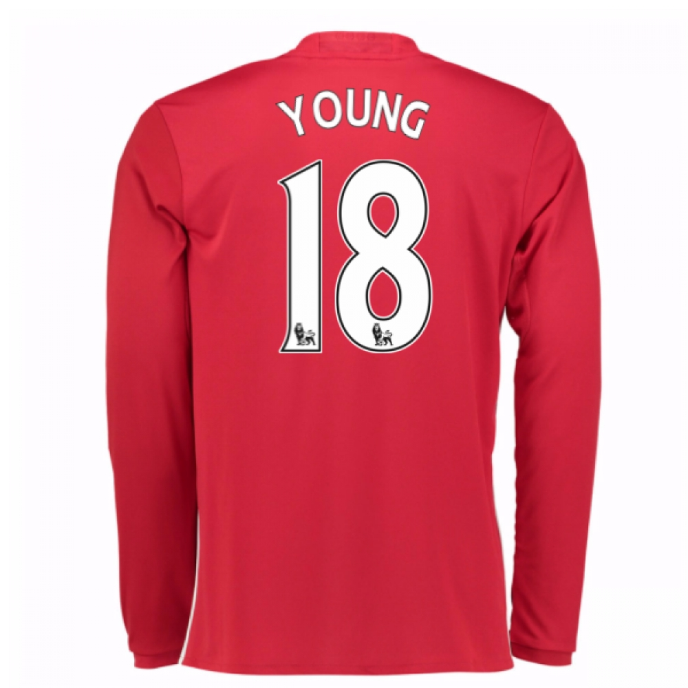 2016-17 Man United Home Long Sleeve Shirt (Young 18)