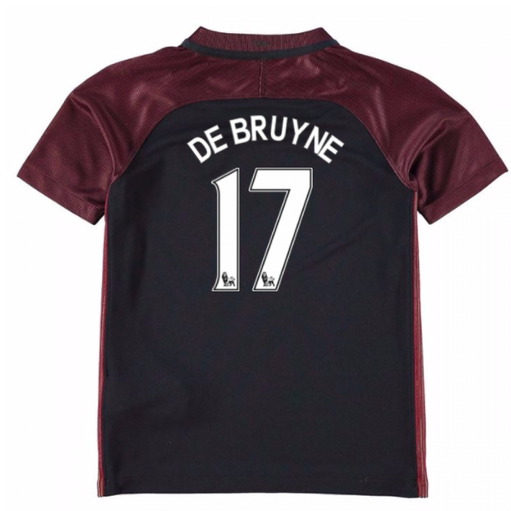 2016-17 Manchester City Away Mini Kit (De Bruyne 17)