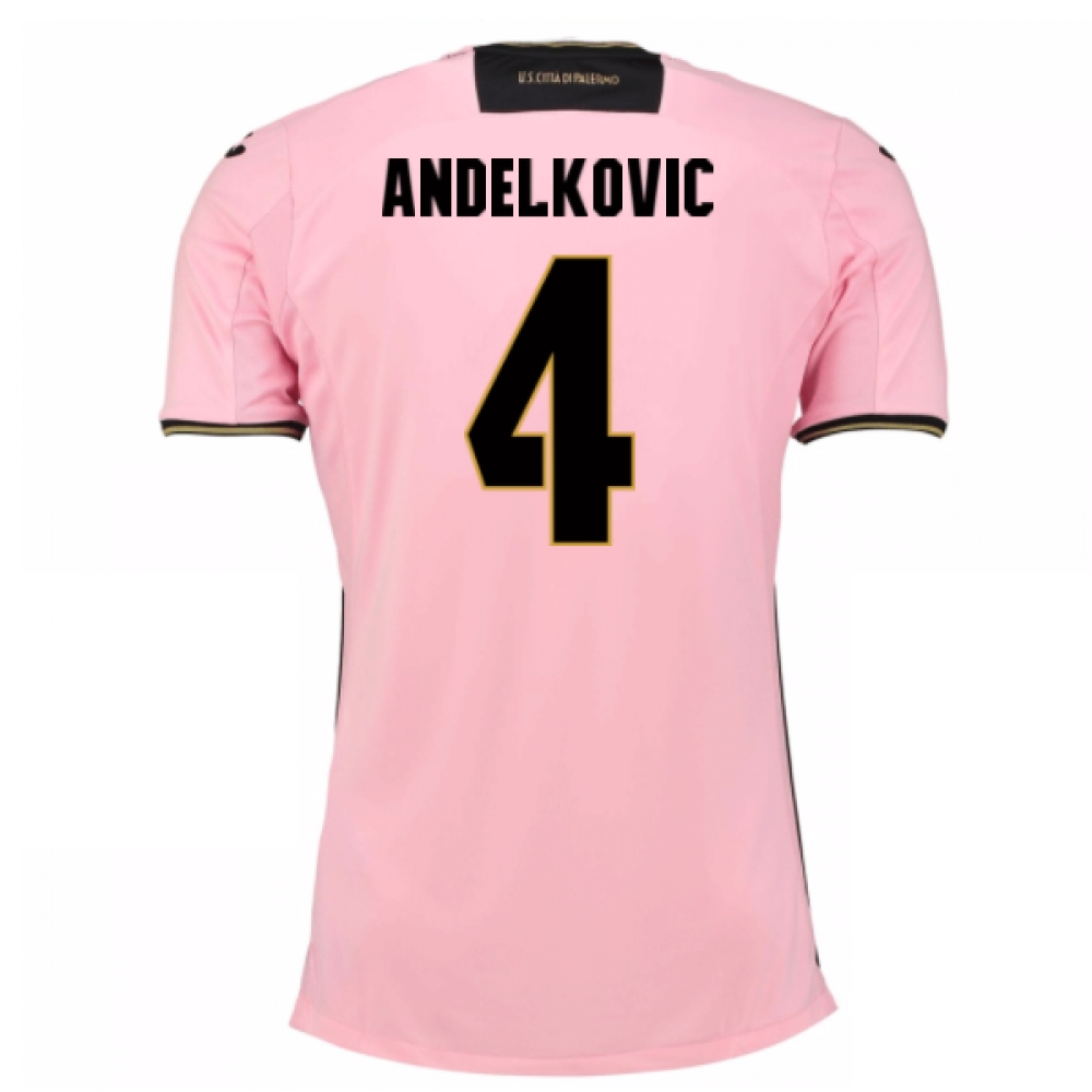 2016-17 Palermo Home Shirt (Andelkovic 4)