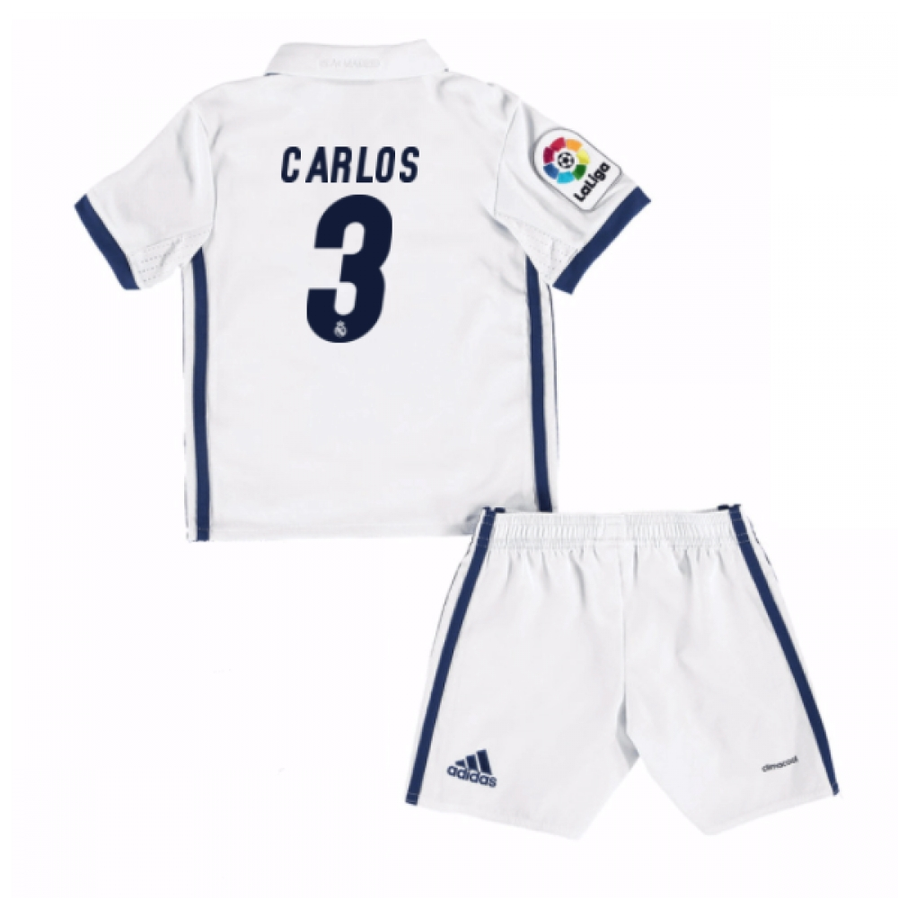 2016-17 Real Madrid Kids Home Mini Kit (Carlos 3)