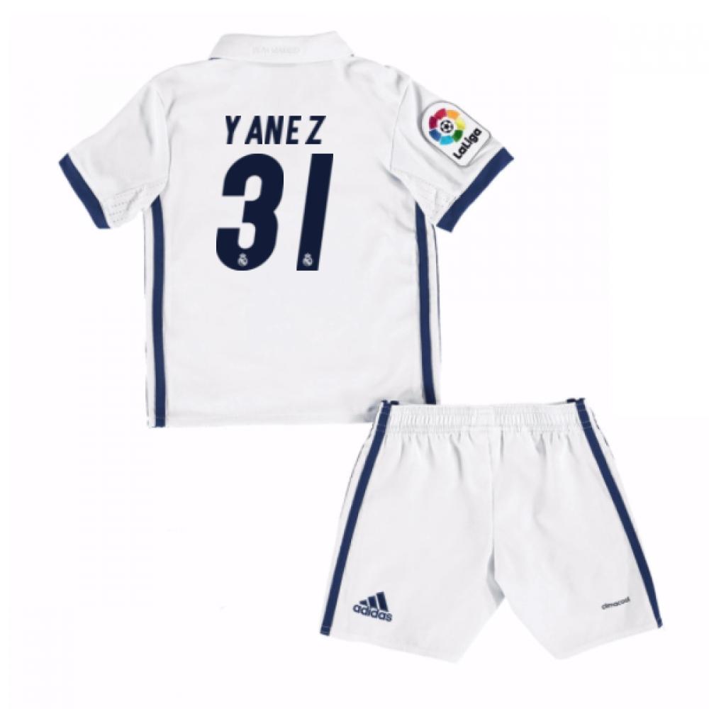 2016-17 Real Madrid Kids Home Mini Kit (Yanez 31)