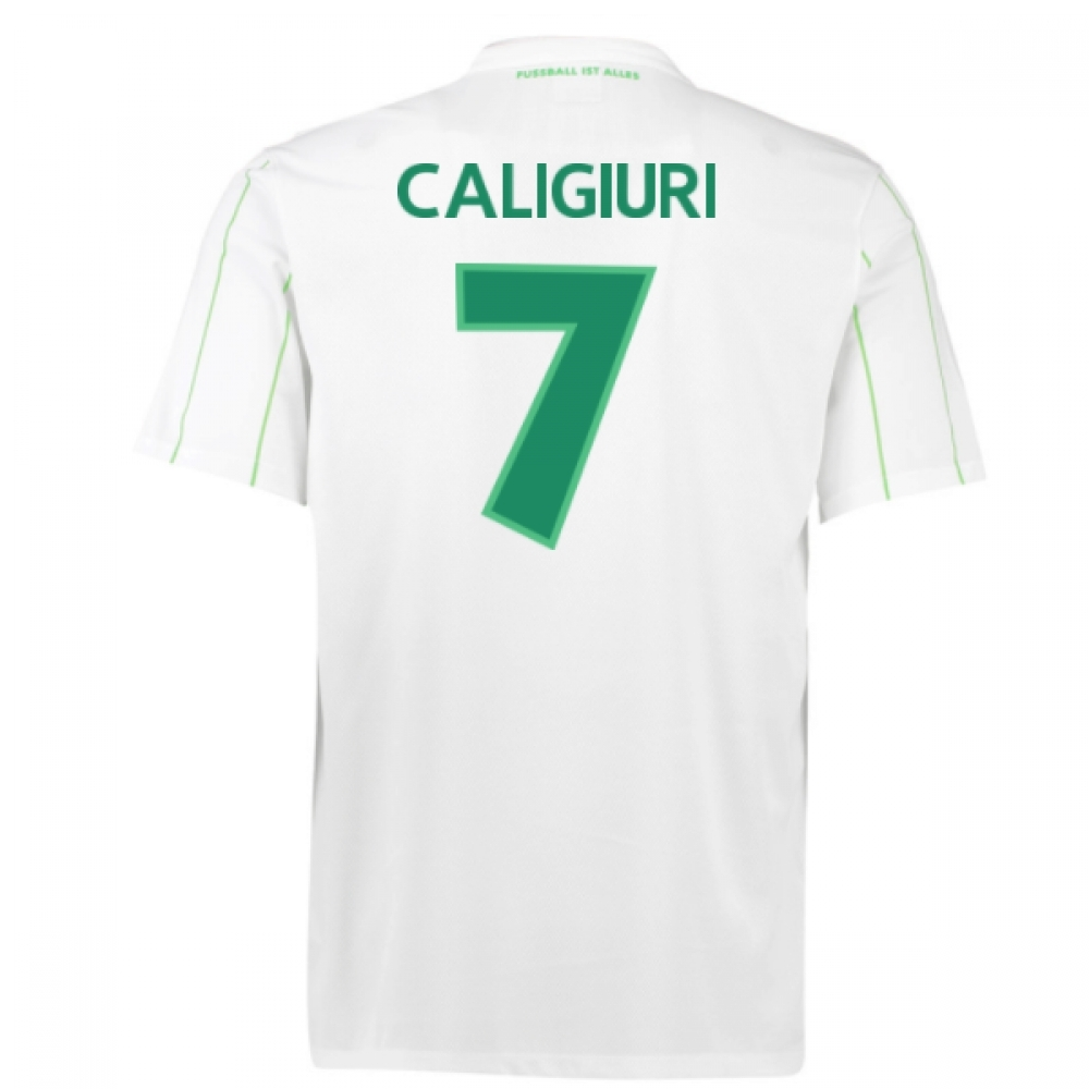 2016-17 Vfl Wolfsburg Away Shirt (Caligiuri 7) - Kids