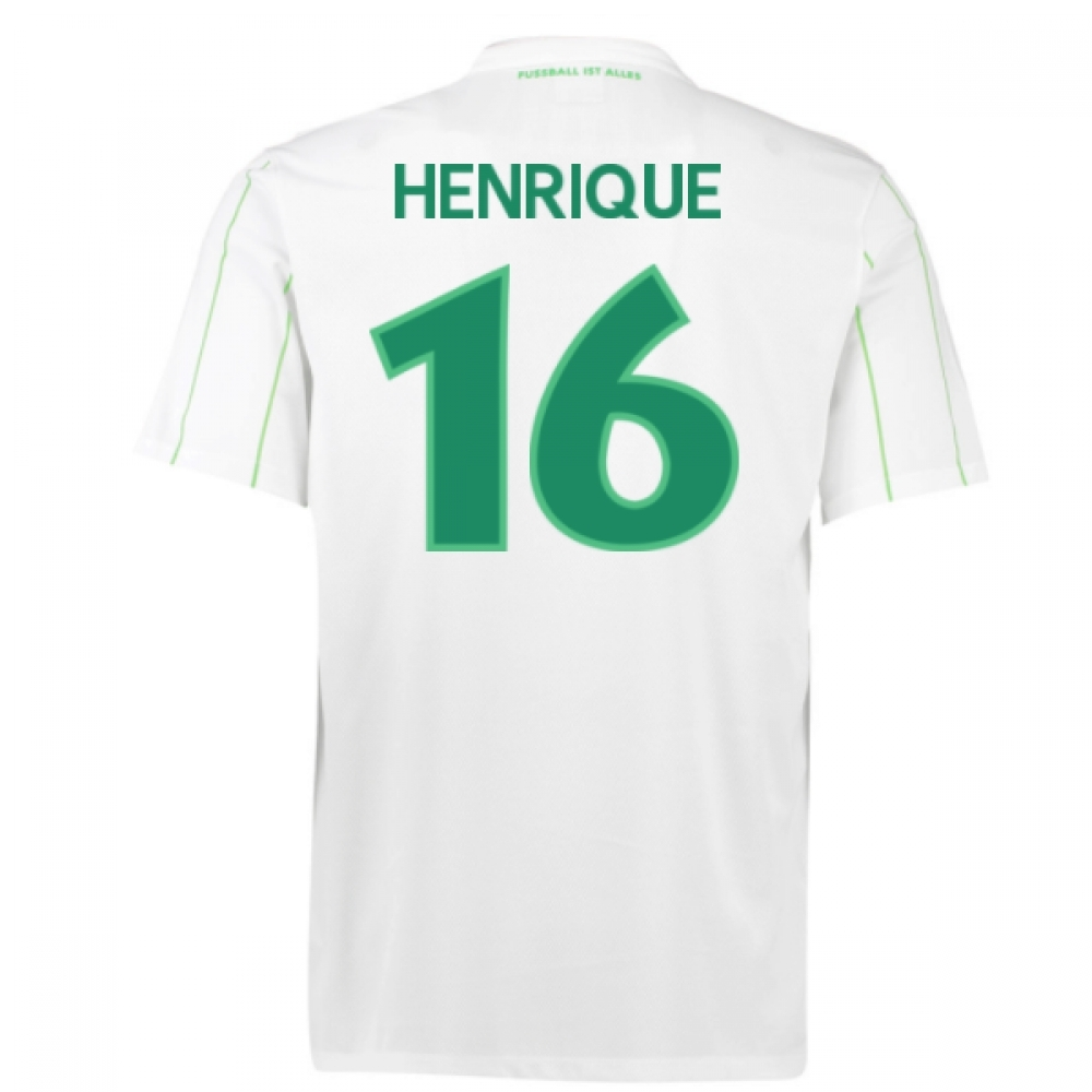 2016-17 Vfl Wolfsburg Away Shirt (Henrique 16)
