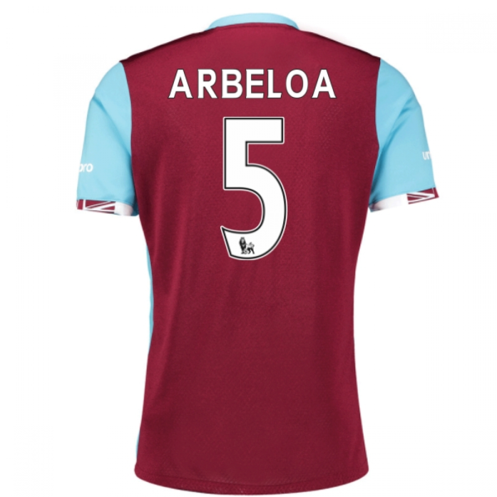 2016-17 West Ham Home Shirt (Arbeloa 5) - Kids