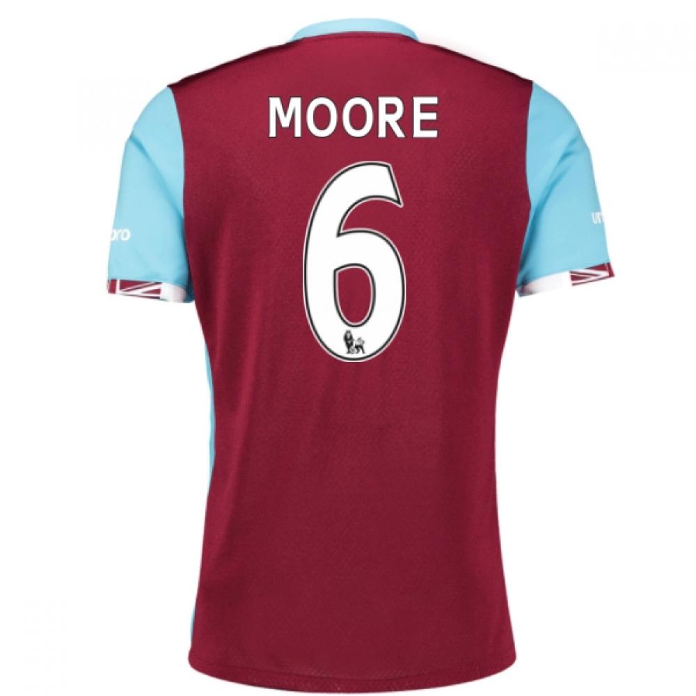 2016-17 West Ham Home Shirt (Moore 6) - Kids