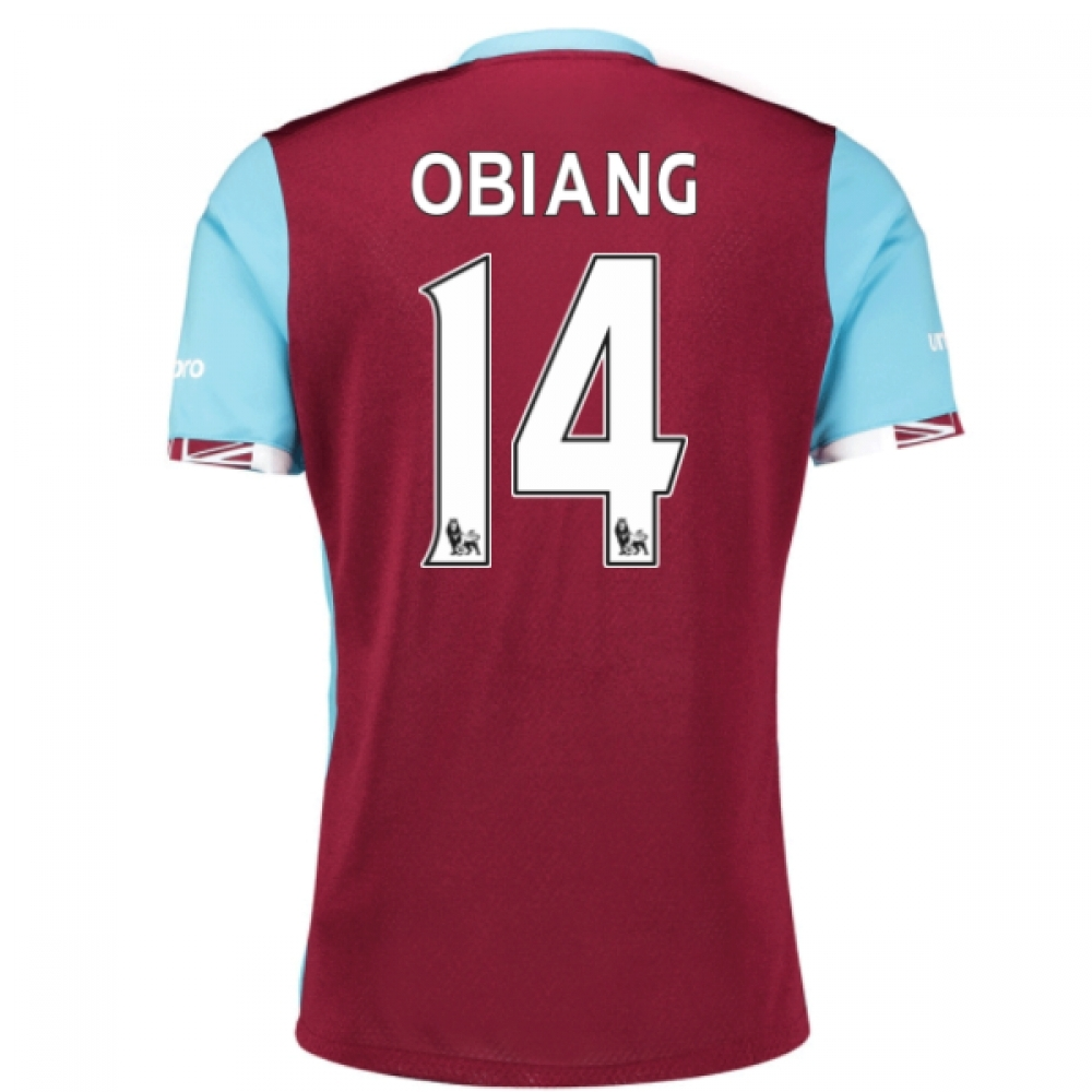 2016-17 West Ham Home Shirt (Obiang 14)