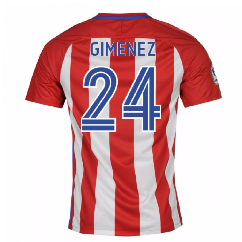 2016-17 Atletico Madrid Home Shirt (Gimenez 24) - Kids