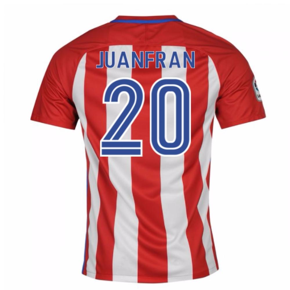 2016-17 Atletico Madrid Home Shirt (Juanfran 20)