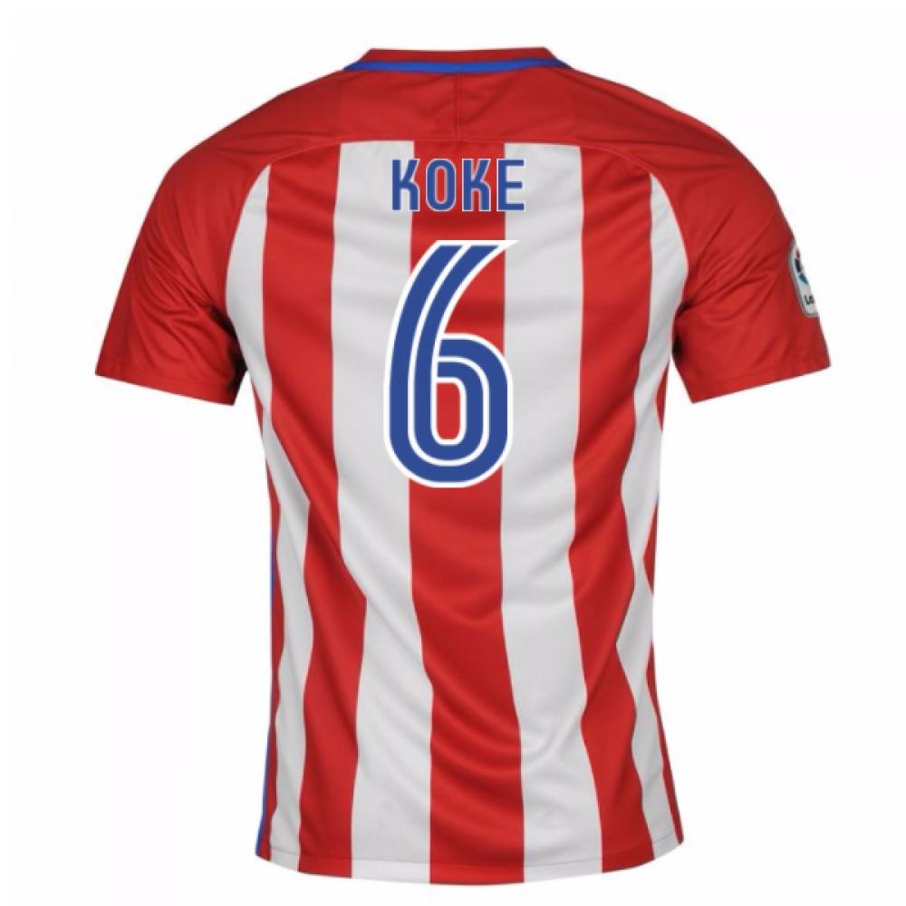 2016-17 Atletico Madrid Home Shirt (Koke 6)