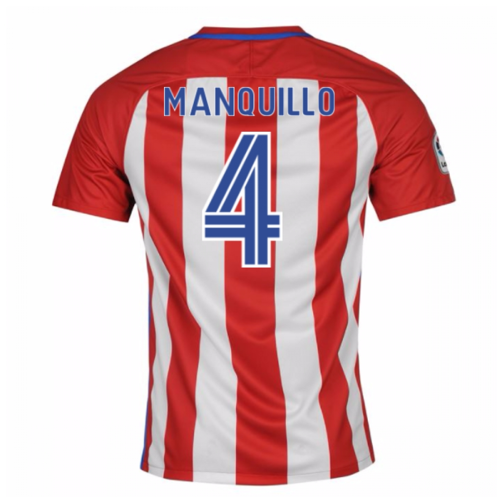 2016-17 Atletico Madrid Home Shirt (Manquillo 4) - Kids