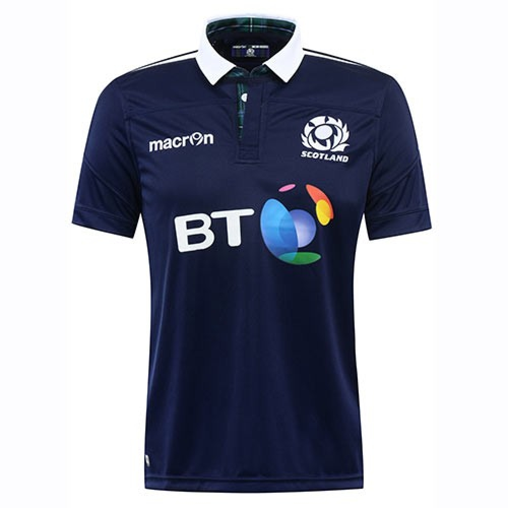 2016-2017 Scotland Home Authentic Pro Body Fit Rugby Shirt