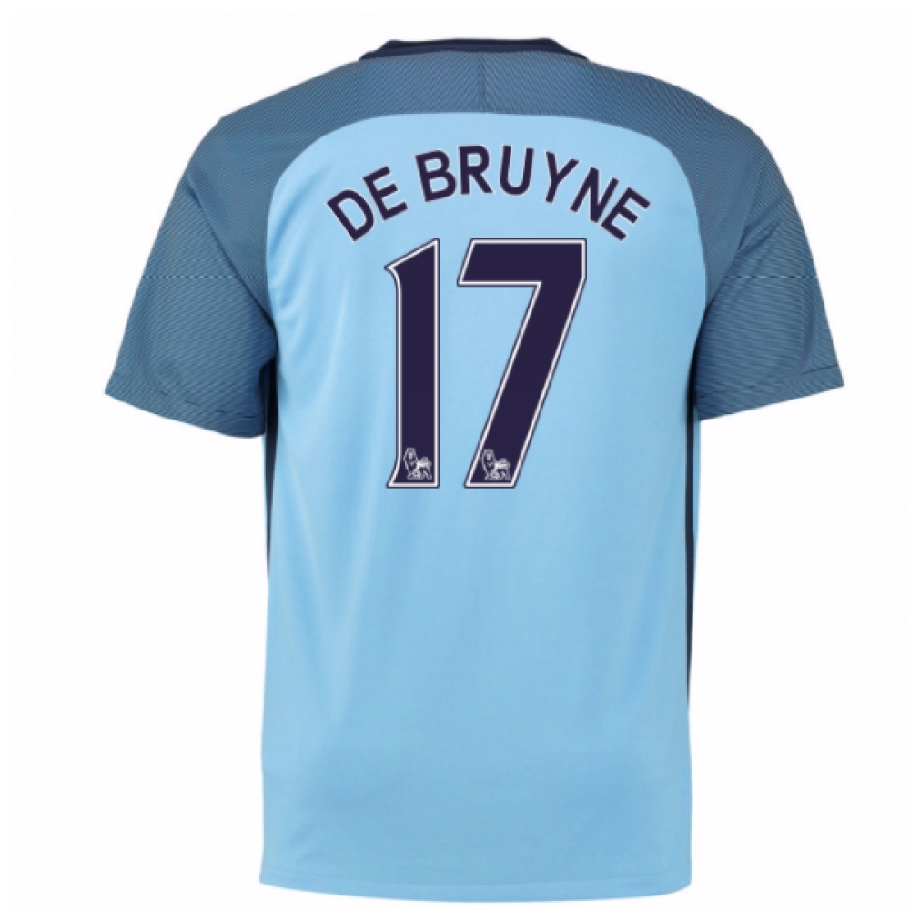 2016-17 Man City Home Shirt (De Bruyne 17) - Kids