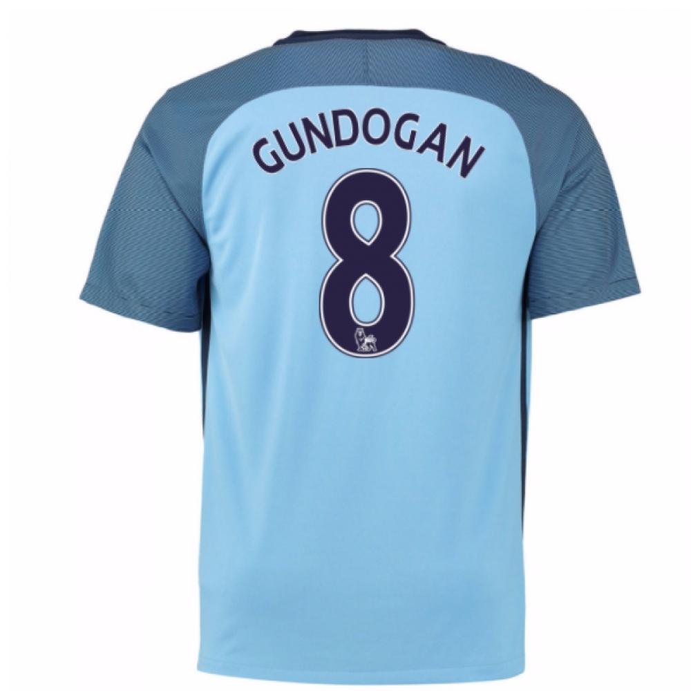 2016-17 Man City Home Shirt (Gundogan 8) - Kids