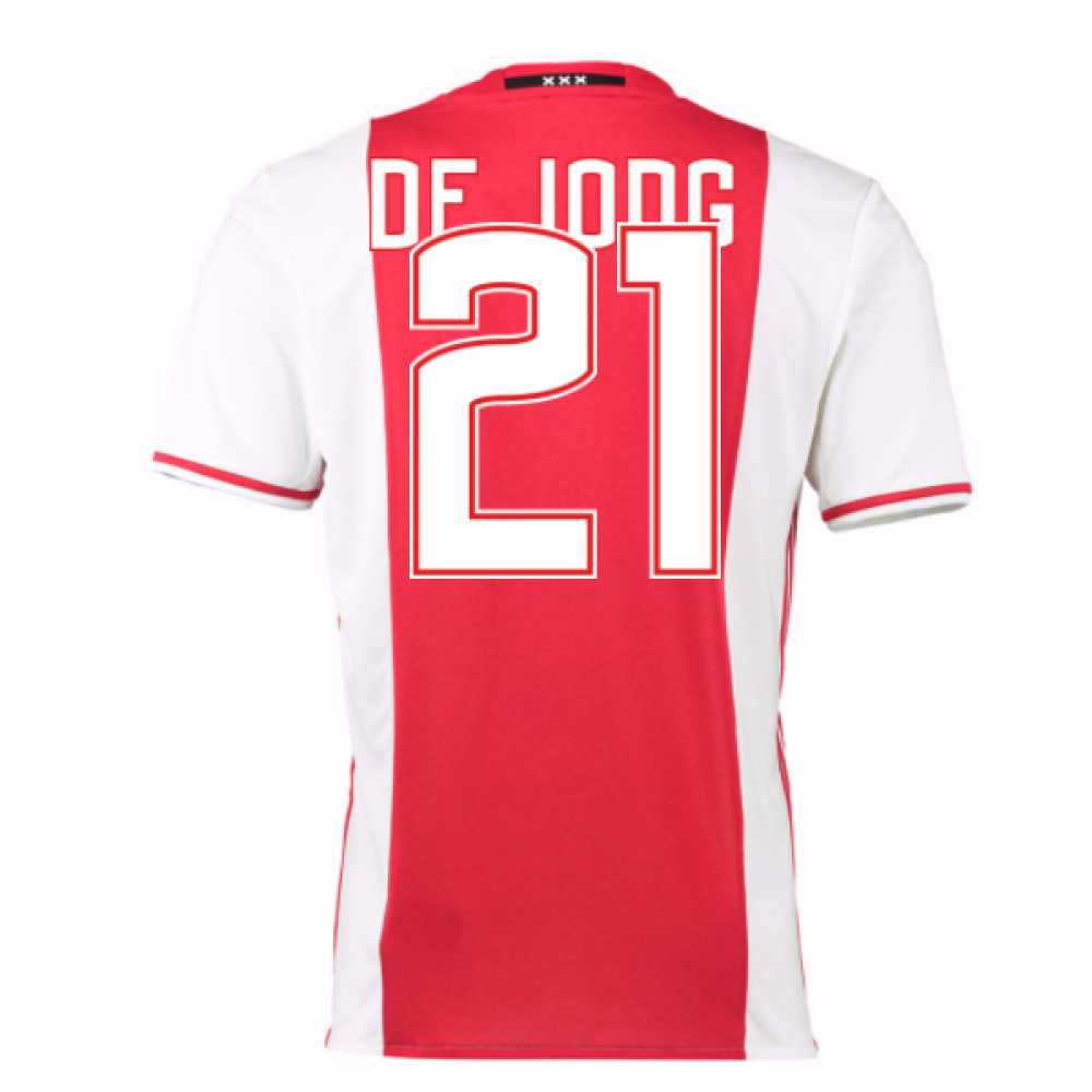 2016-17 Ajax Home Shirt (De Jong 21)